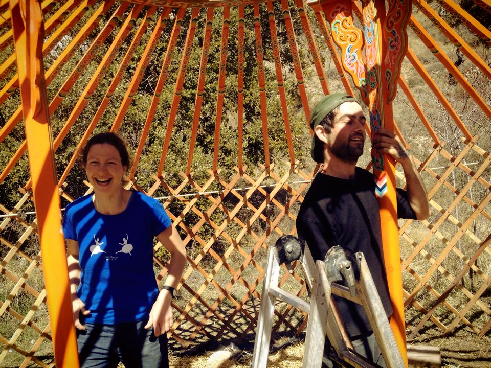 voluteers yurt